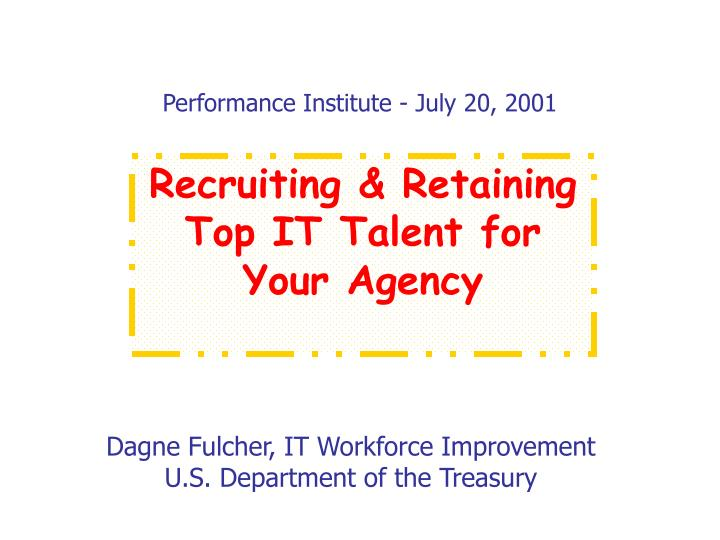 performance institute july 20 2001