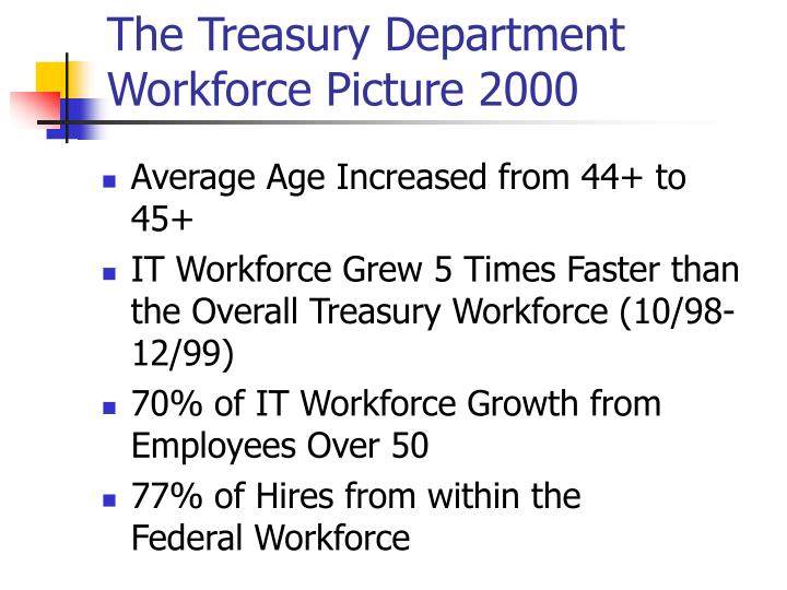 The Treasury Department Workforce Picture 2000