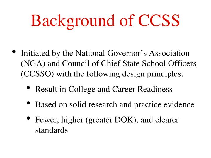 Background of CCSS