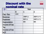 discount with the nominal rate1