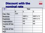discount with the nominal rate2