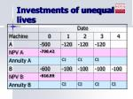 investments of unequal lives9