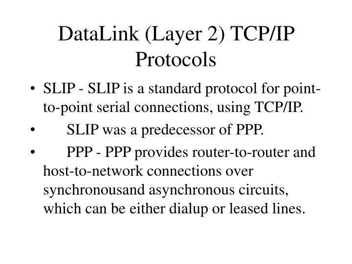 DataLink (Layer 2) TCP/IP Protocols