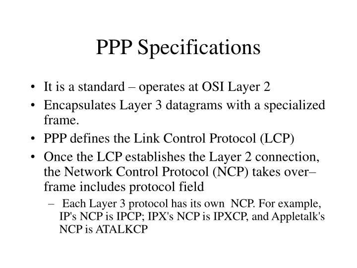 PPP Specifications