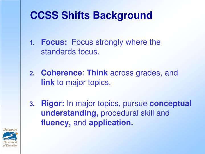CCSS Shifts Background