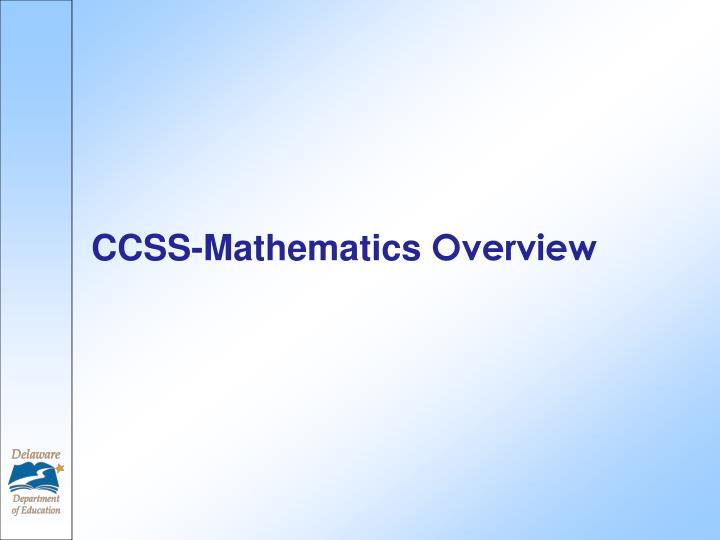 CCSS-Mathematics