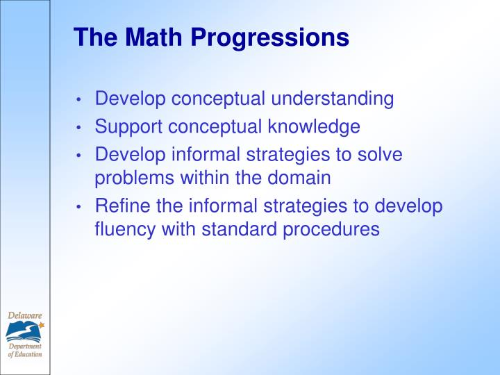The Math Progressions