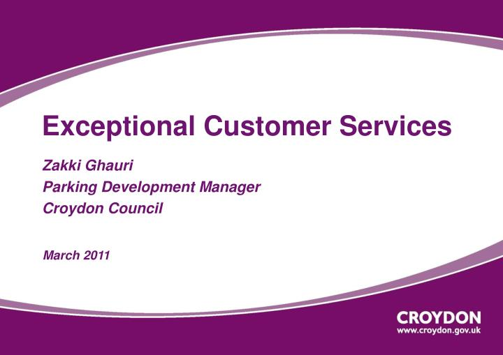 exceptional customer services