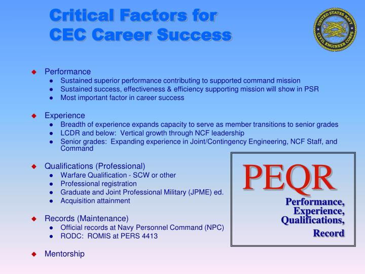 Critical Factors for