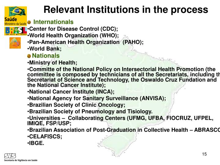 Relevant Institutions in the process