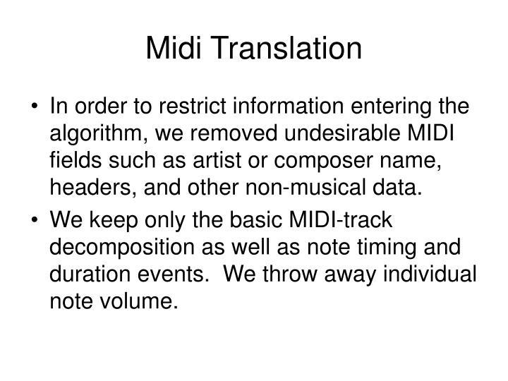 Midi Translation