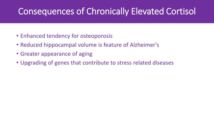 Consequences of Chronically Elevated Cortisol