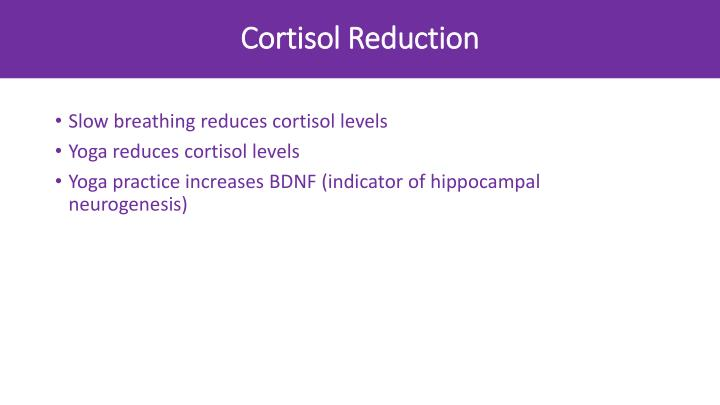 Cortisol Reduction