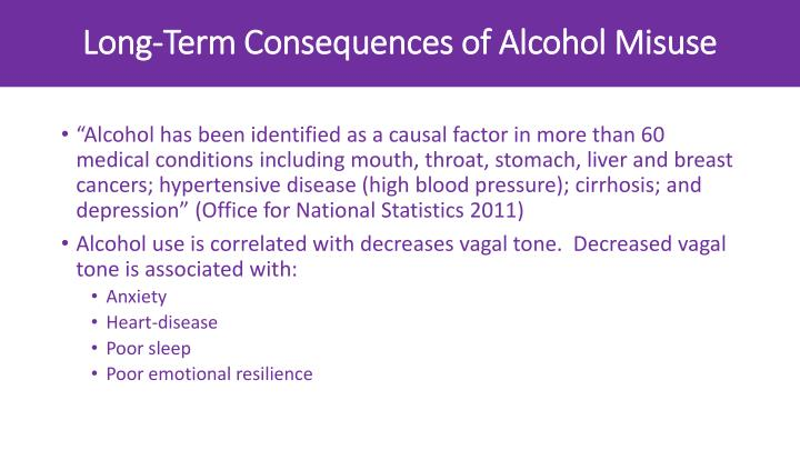 Long-Term Consequences of Alcohol Misuse