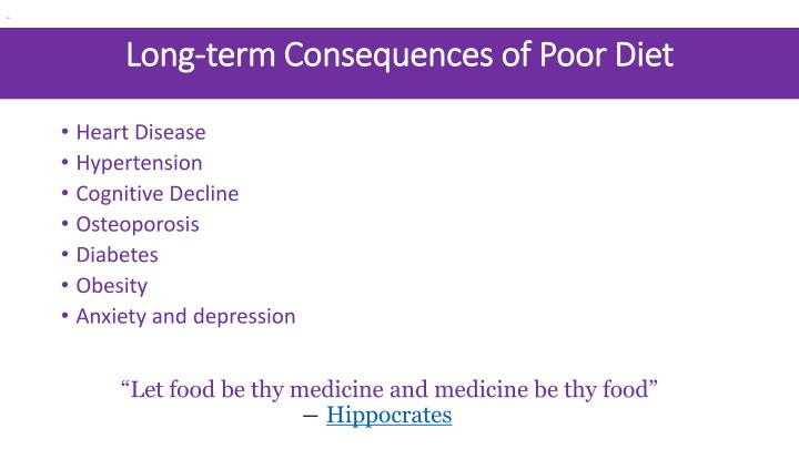 Long-term Consequences of Poor Diet