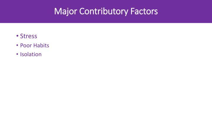 Major Contributory Factors