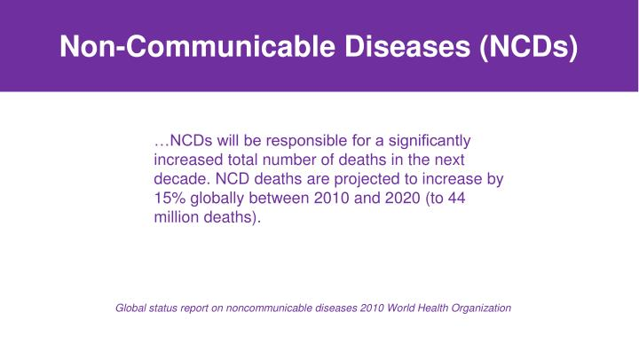 Non-Communicable Diseases (NCDs)