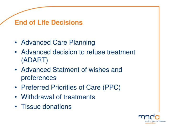 End of Life Decisions