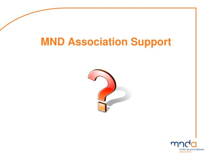 MND Association Support