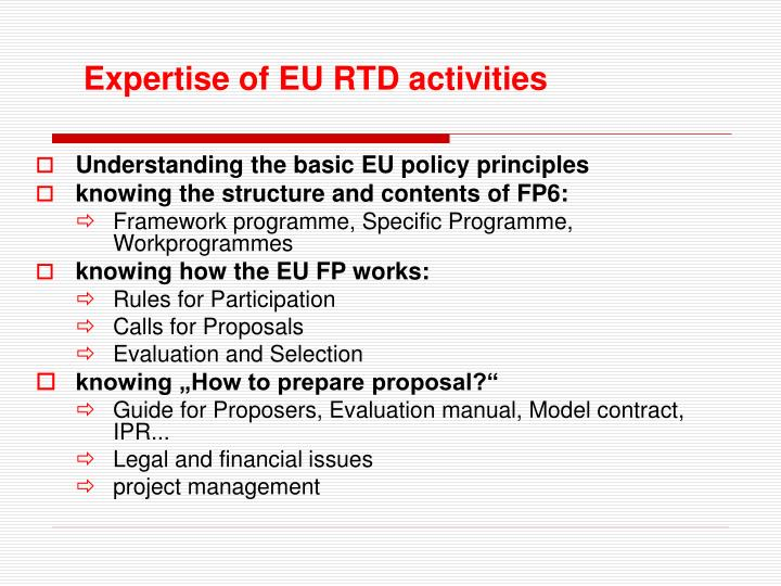 Understanding the basic EU policy principles