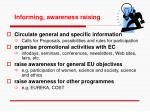 informing awareness raising