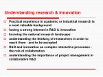 understanding research innovation
