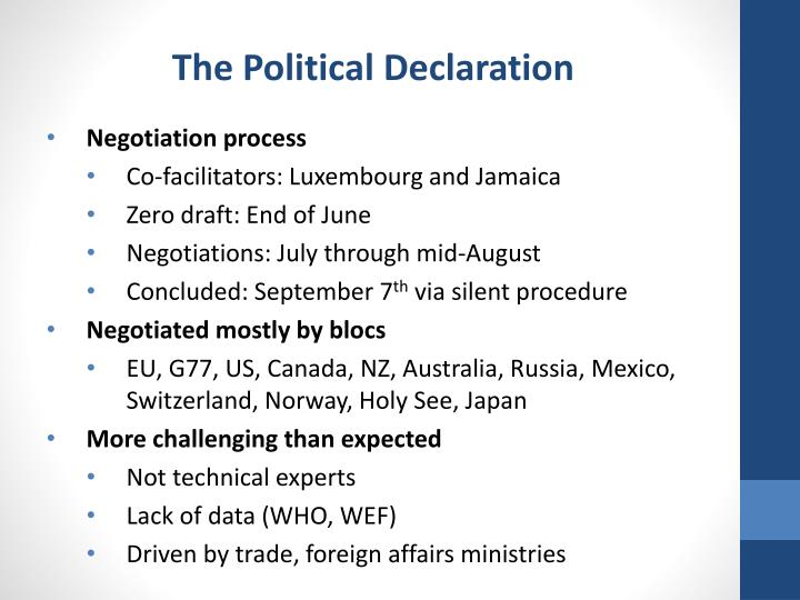 The Political Declaration