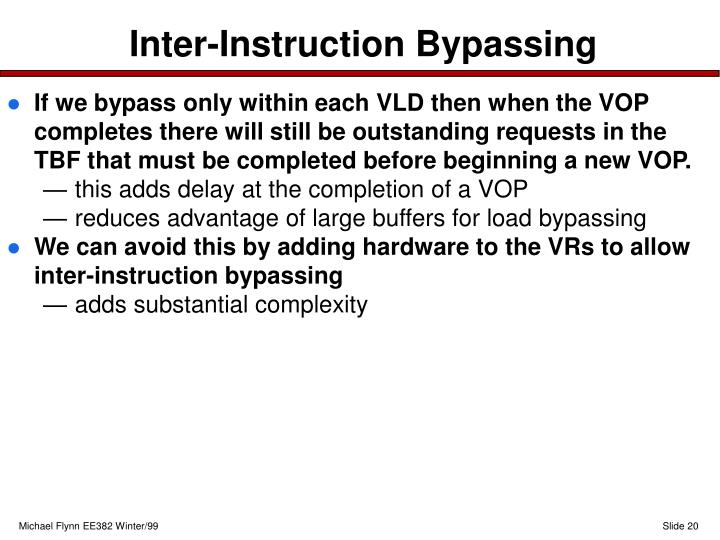 Inter-Instruction Bypassing