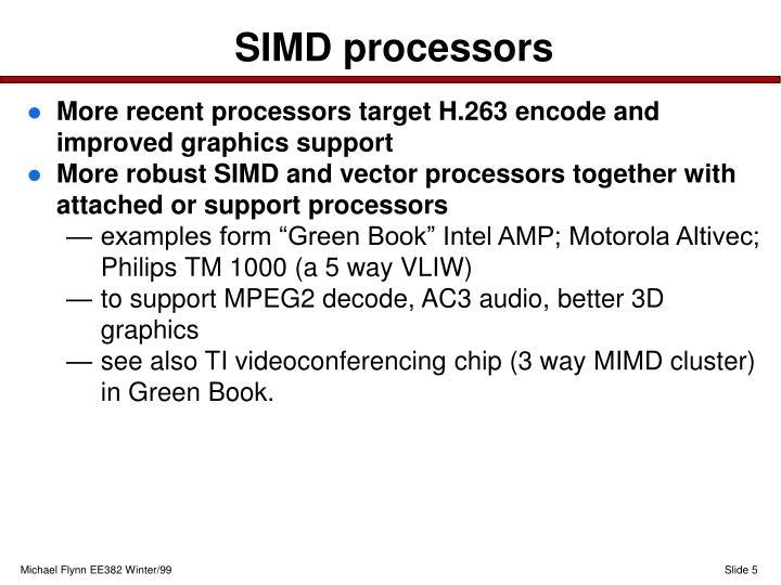 SIMD processors