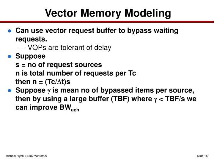 Vector Memory Modeling