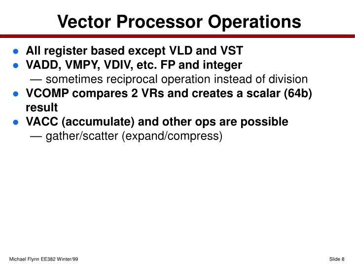 Vector Processor Operations