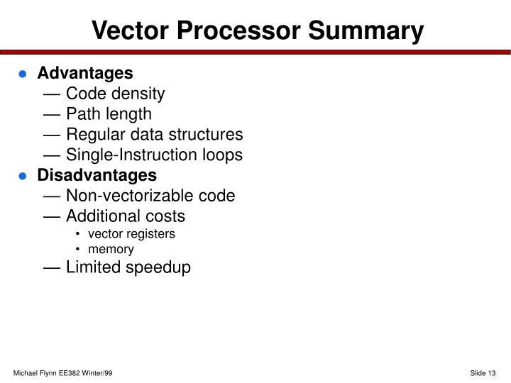Vector Processor Summary