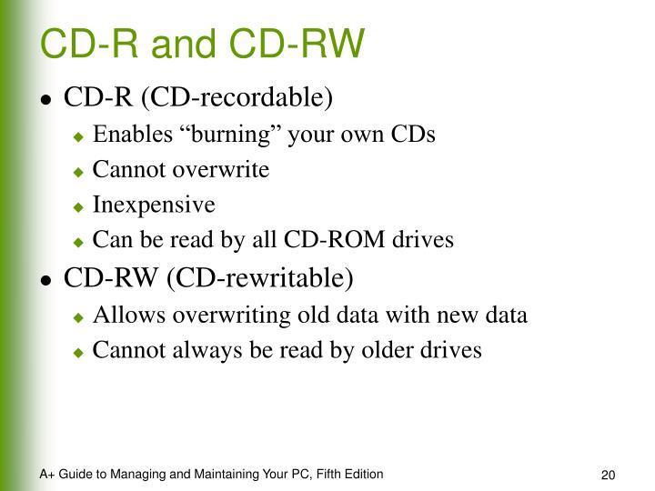 CD-R and CD-RW