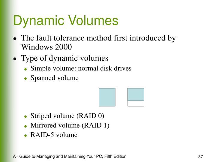 Dynamic Volumes