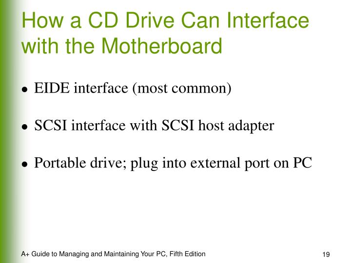 How a CD Drive Can Interface with the Motherboard