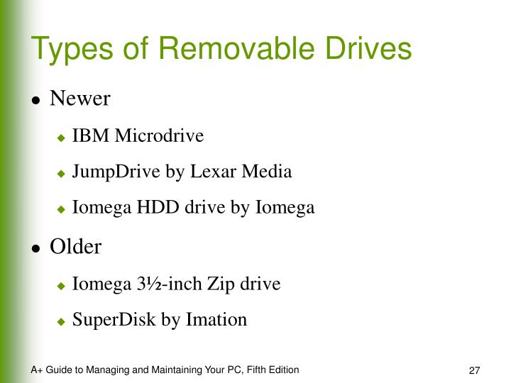 Types of Removable Drives