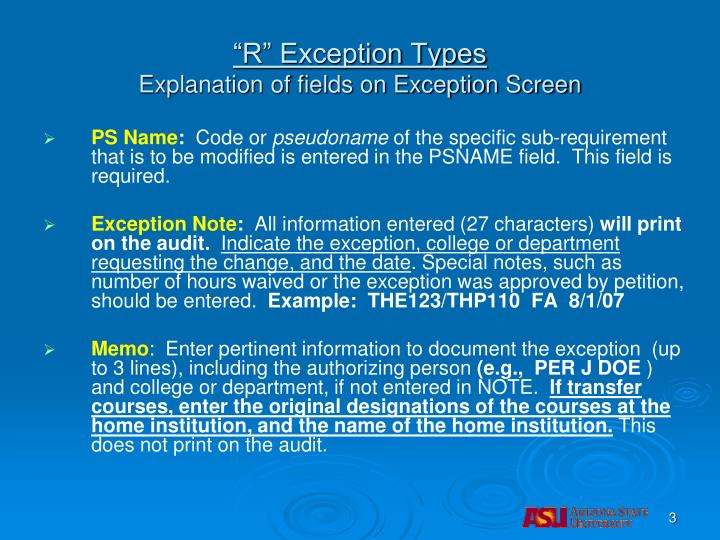 """""""R"""" Exception Types"""