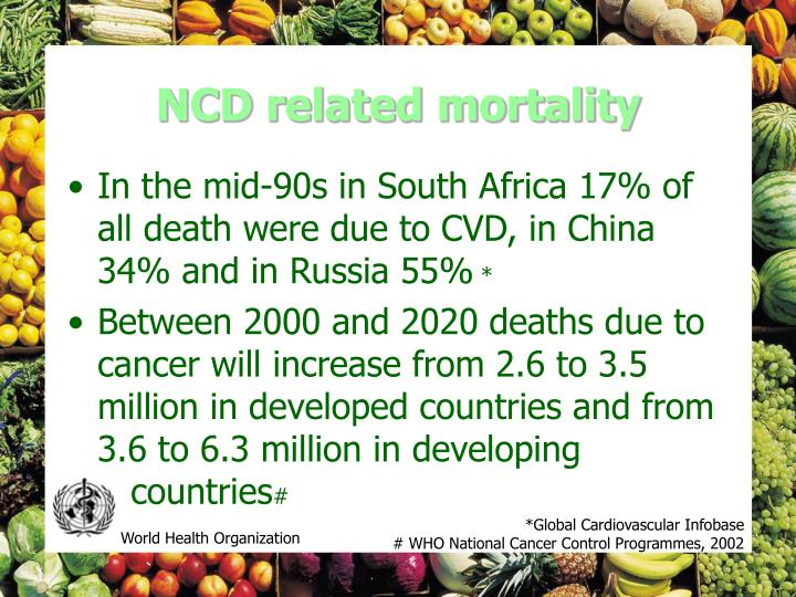 NCD related mortality