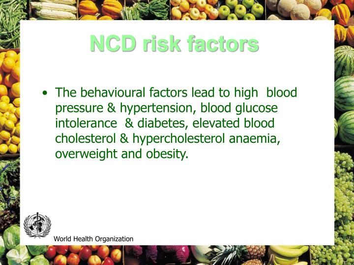 NCD risk factors