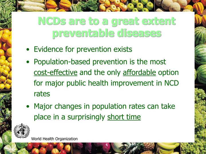 NCDs are to a great extent