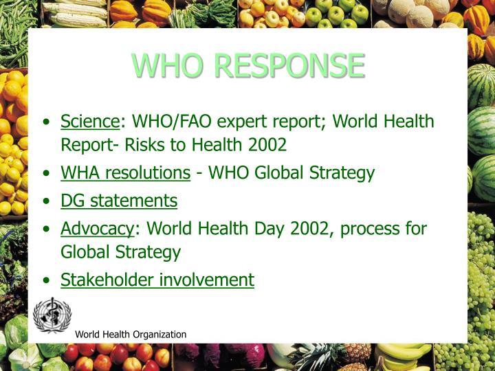 WHO RESPONSE