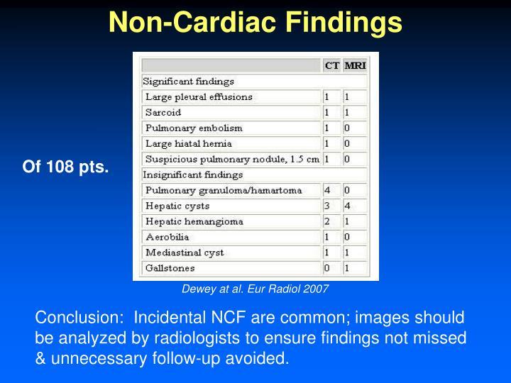 Non-Cardiac Findings