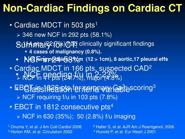 Non-Cardiac Findings on Cardiac CT
