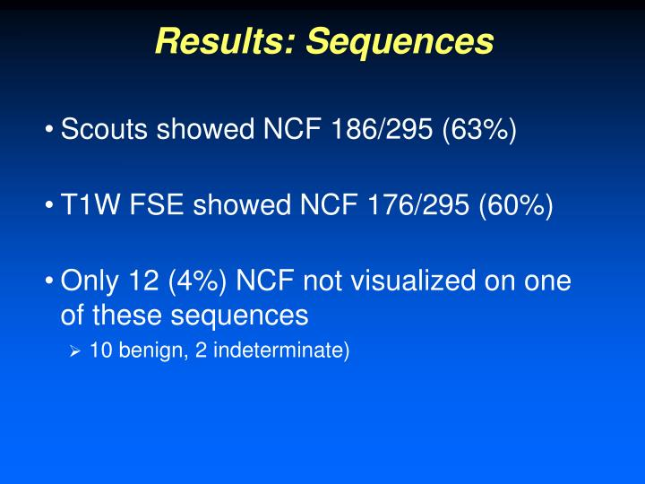 Results: Sequences