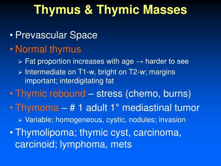 Thymus & Thymic Masses