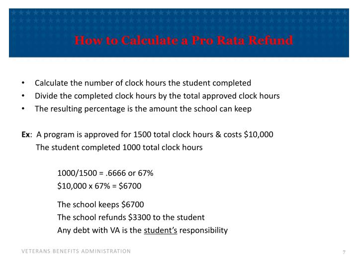 How to Calculate a Pro Rata Refund