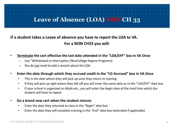 Leave of Absence (LOA)