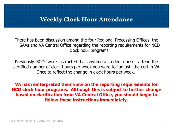 Weekly Clock Hour Attendance