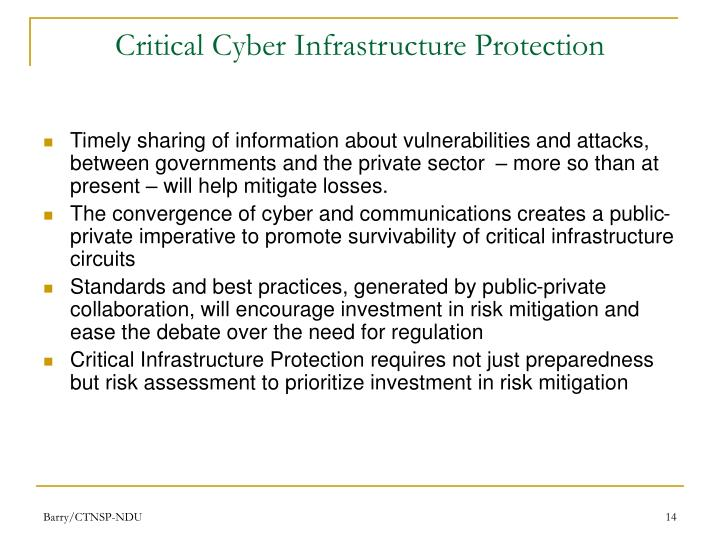 Critical Cyber Infrastructure Protection