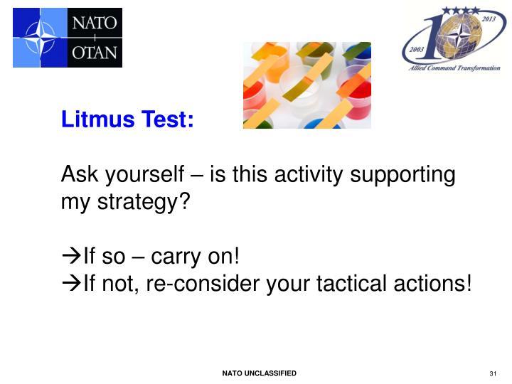 Litmus Test: